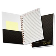 Tops Products Gold Fibre Personal 5 x 7 Notebook, College-Medium, Grey Cover - 100 Sheet (AZTY15733)