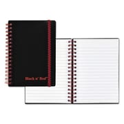 Pink & Black Twin Wire Poly Cover Notebook - 4.12 x 5.87 in. (AZTY11114)