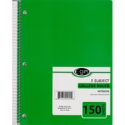 DDI Note Book - Five Subject - 150 sheets - 10.5 in. x 8 in. Case Of 36 (DLRDY254997)