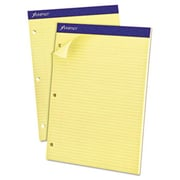 Esselte Pendaflex Corp. Double Sheet Pad, Narrow/Margin Pad, 8-1/2 x 11-3/4, Canary, Perfed, 100 Sheets (AZERTY18778)