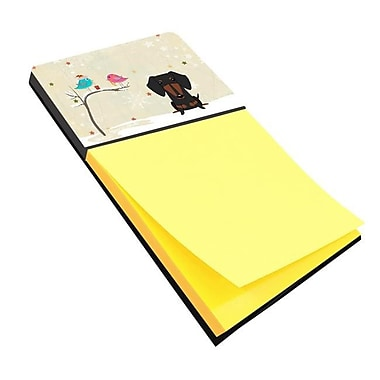 Carolines Treasures Christmas Presents Between Friends Dachshund Black & Tan Sticky Note Holder (CRLT118564)