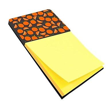 Carolines Treasures Orange on Grey Sticky Note Holder (CRLT133544)