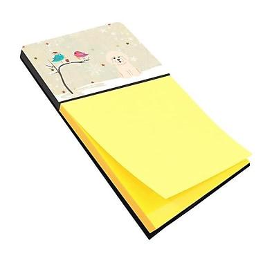 Carolines Treasures Christmas Presents Between Friends Bichon Frise Sticky Note Holder (CRLT118600)