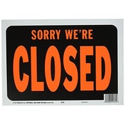 Merchandise Sign 8.5 x 11 Sign Sorry We Are Closed Plastic (MCDS22795)