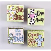Youngs Sign - Canvas Box Grace And Love And Joy - Assorted (ANCRD61339)