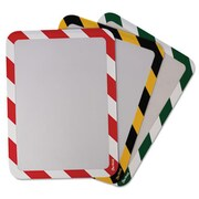 Tarifold High Visibility Safety Frame Display Pocket-Magnet Back, 10.25 x 14.5, Red & White (AZTY15292)