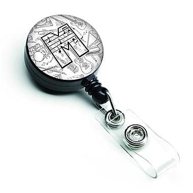 Carolines Treasures Letter M Musical Note Letters Retractable Badge Reel (CRLT127605)