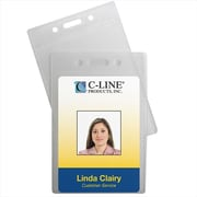 C-Line Products ID Badge Holders Vertical 2 .5 x 3 .5 12-PK - Set of 5 PK (CLNP397)