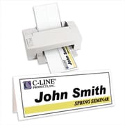 C-Line Products Inkjet-Laser Cardstock Name Tents Scored White Large 50-BX - Set of 2 BX (CLNP348)