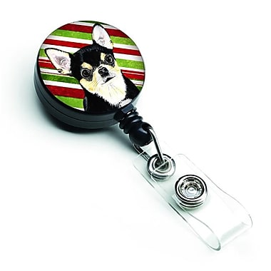 Carolines Treasures Chihuahua Candy Cane Holiday Christmas Retractable Badge Reel (CRLT127943)