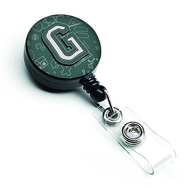 Carolines Treasures Letter G Back to School Initial Retractable Badge Reel (CRLT127279)