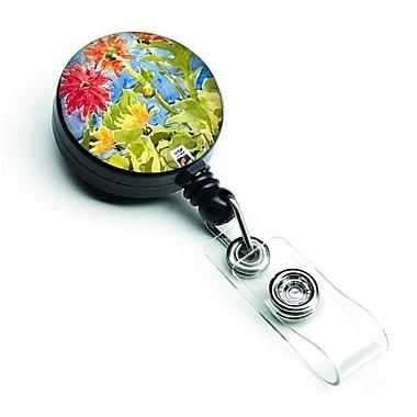 Carolines Treasures Flower Gerber Daisies Retractable Badge Reel (CRLT126864)