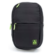 M-Edge Tech Backpack with Battery, Black/Lime (BPK-T6-N-BL)