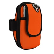 Orange Neoprene Zipper Pouch Workout Exercise Armband for cellphone Universal