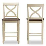 Baxton Studio Ashton 17.16'' W x 21.29'' D Bar Stool, Light Brown (6937-2PC-STPL)