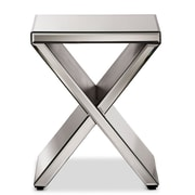 "Baxton Studio Morris 16''W x 16''D Accent Table, ""Silver"" Mirrored (6736-STPL)"