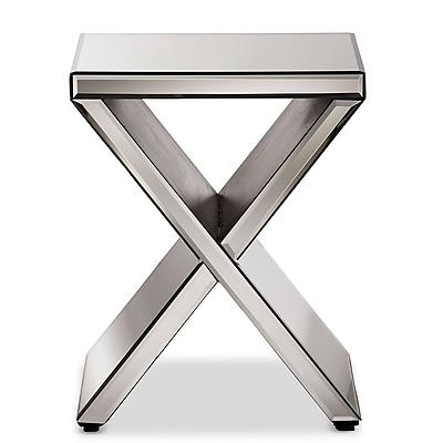Baxton Studio Morris 16''W x 16''D Accent Table,