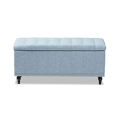 Baxton Studio Kaylee 41.73'' W x 16.73'' D Bench, Light Blue (7056-STPL)