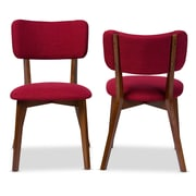 "Baxton Studio Monaco 18.92""W x 23.4""D Dining Chair, Red (6622-2PC-STPL)"