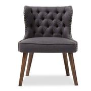 Baxton Studio Scarlett 25.39'' W x 24.02'' D Accent Chair, Dark Gray (7079-STPL)