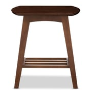 Baxton Studio Sacramento 21.45'' W x 19.5'' D Accent Table, Brown (6628-STPL)