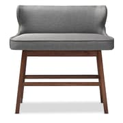 Baxton Studio Gradisca 40.56'' W x 19.89'' D Bar Bench, Gray (6753-STPL)