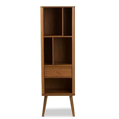 Baxton Studio Ellingham 18.41'' W x 15.21'' D Storage Cabinet, Brown (6785-STPL) 24122332