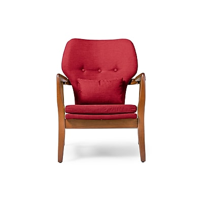 Baxton Studio Rundell 26.52'' W x 29.45'' D Accent Chair, Red (6393-STPL)