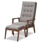 Baxton Studio Roxy 27.36'' W x 34.25'' D Living Room Set, Gray,(7140-7142-STPL)