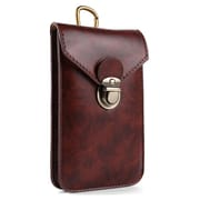 Brown Unviersal Vertical Buckle Waist Pouch Carrying Case