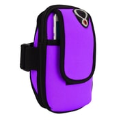 Purple Neoprene Zipper Pouch Workout Exercise Armband for cellphone Universal