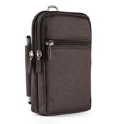 Brown Universal Utility Travel Waist Pouch Carrying Case