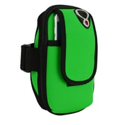 Green Neoprene Zipper Pouch Workout Exercise Armband for cellphone Universal
