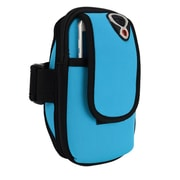 Aqua Neoprene Zipper Pouch Workout Exercise Armband for cellphone Universal