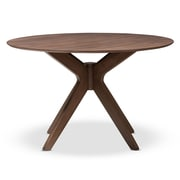 "Baxton Studio Monte 47.24'' W x 47.24'' D Dining Table, ""Walnut"" Brown (7175-STPL)"
