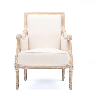 Baxton Studio Chavanon 25.38'' W x 22'' D Accent Chair, Light Beige (6024-STPL)