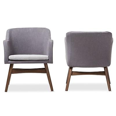 Baxton Studio Vera 23.62'' W x 24.8'' D Accent Chair, Gray (7178-2PC-STPL)