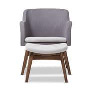 Baxton Studio Vera 23.62'' W x 24.8'' D Living Room Set, Gray (7177-STPL)
