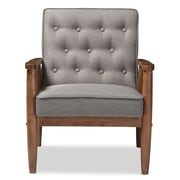 Baxton Studio Sorrento 27.11'' W x 29.45'' D Accent Chair, Gray (6766-STPL)