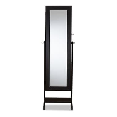 Baxton Studio Jewelry 15.8'' W x 14.2'' D Armoire, Black (7057-STPL)