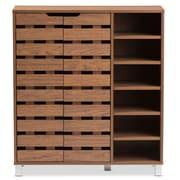 Baxton Studio Shirley 34.16'' W x 13.85'' D Storage Cabinet, Brown (6602-STPL)