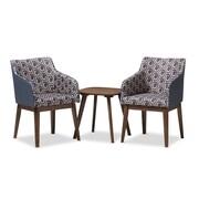 Baxton Studio Reece 20.87'' W x 20.87'' D Living Room Set, Dark Blue Print, (7182-7179-STPL)