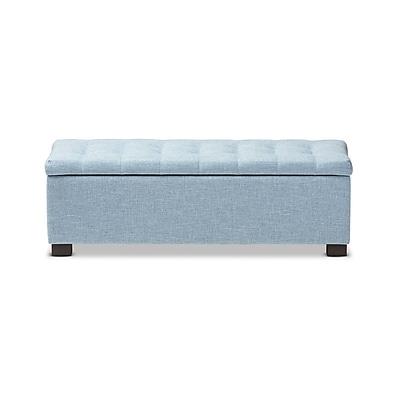 Baxton Studio Roanoke 46.06'' W x 16.73'' D Bench, Light Blue (7048-STPL)