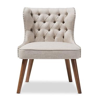 Baxton Studio Scarlett 25.39'' W x 24.02'' D Accent Chair, Light Beige (7078-STPL)