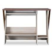 Baxton Studio Rhombus 39.5'' W x 23.2'' D Desk, Light Brown (5430-STPL)