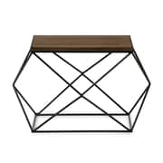 Baxton Studio Stilo 29.13'' W x 24'' D Accent Table, Brown (7198-STPL)
