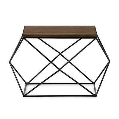 Baxton Studio Stilo 29.13'' W x 24'' D Accent Table, Brown (7198-STPL)
