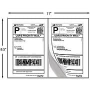"Laser Inkjet Internet Shipping Label 5 1/2"" x 8 1/2"" White 100 Sheet / Box, 200 Labels"