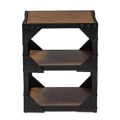 Baxton Studio Hudson 17.7'' W x 17.7'' D Accent Table, Brown (7208-STPL)