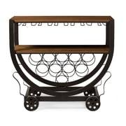 Baxton Studio Triesta 32'' W x 15.5'' D Wine Cabinet, Brown (6643-STPL)